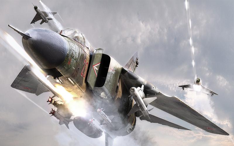 MiG-27 Mikoyan Gurevich avión bombardero soviético.