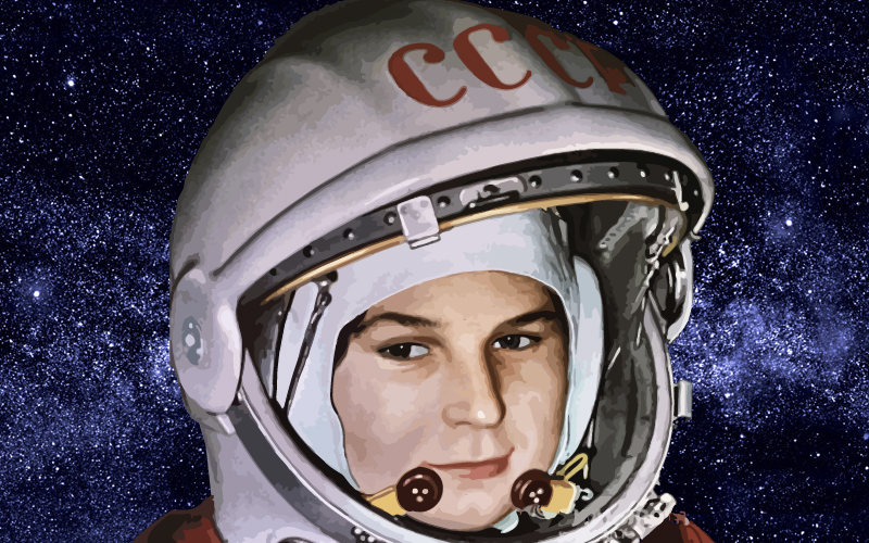 Primera mujer cosmonauta de la URSS, del mundo y de la historia.